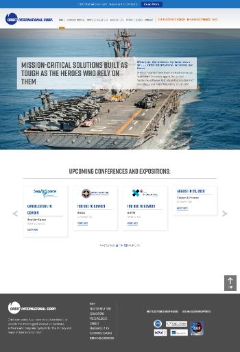 Orbit International Corp. Website Screenshot