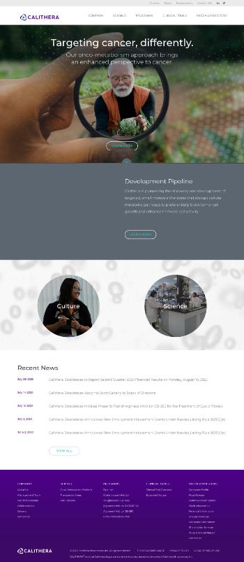 Calithera Biosciences, Inc. Website Screenshot