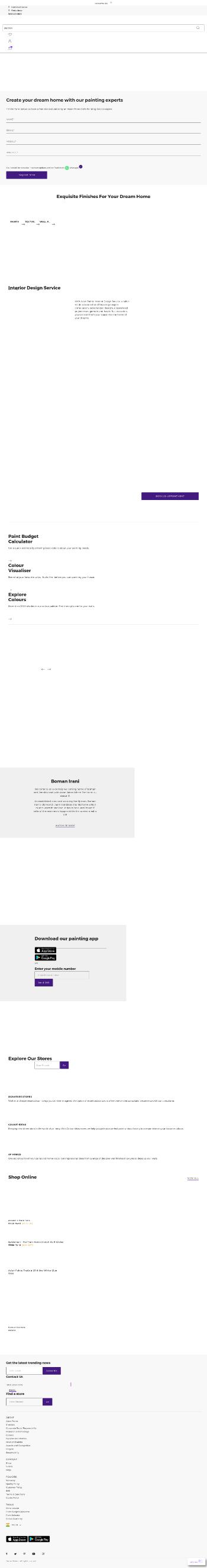 Asian Paints Limited Website Screenshot