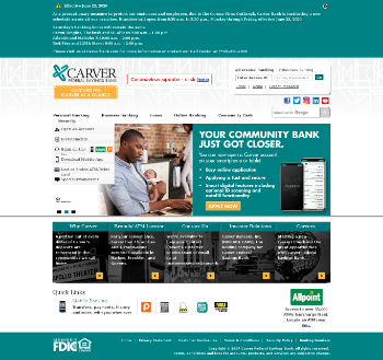 Carver Bancorp, Inc. Website Screenshot