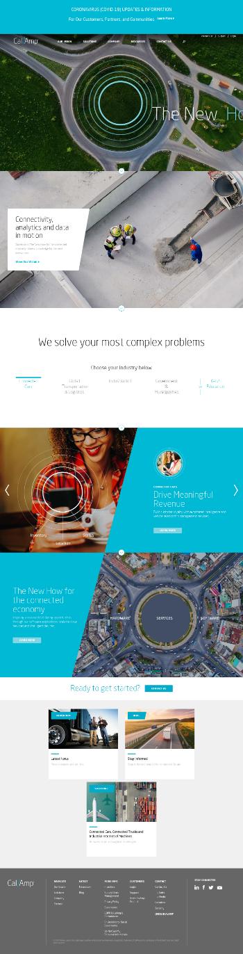 CalAmp Corp. Website Screenshot
