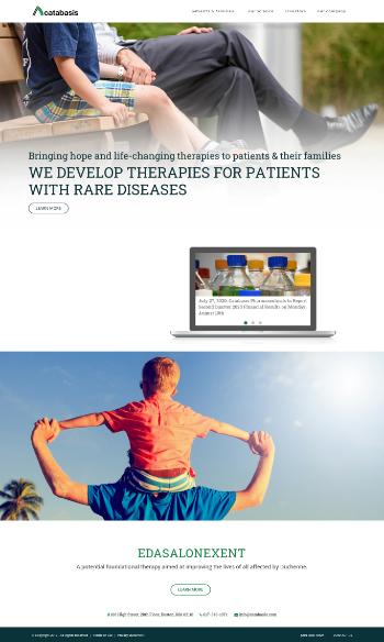Catabasis Pharmaceuticals, Inc. Website Screenshot