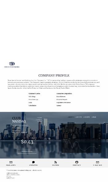 Town Sports International Holdings, Inc. Website Screenshot