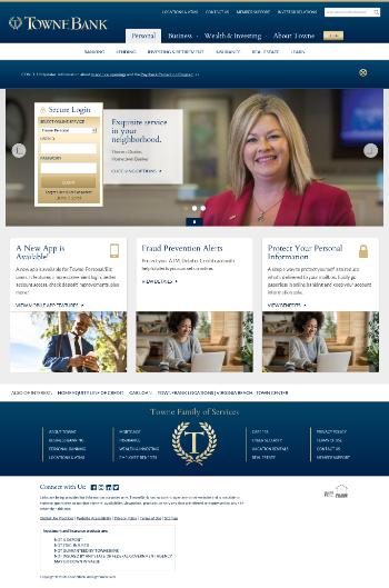 TowneBank Website Screenshot