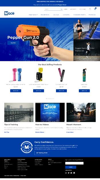 Mace Security International, Inc. Website Screenshot