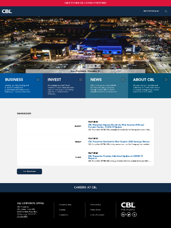CBL & Associates Properties, Inc. Website Screenshot