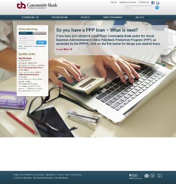 CB Financial Services, Inc. Website Screenshot