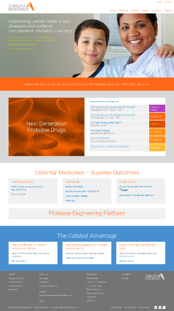 Catalyst Biosciences, Inc. Website Screenshot