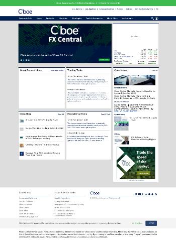 Cboe Global Markets, Inc. Website Screenshot