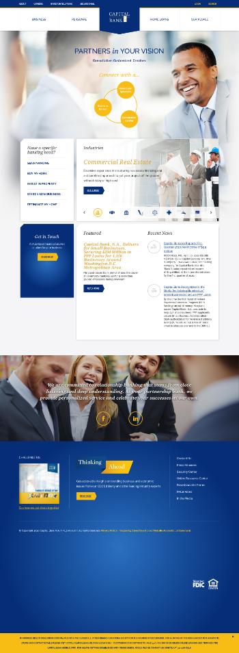 Capital Bancorp, Inc. Website Screenshot