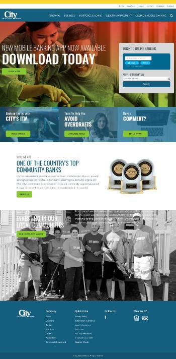 City Holding Company Website Screenshot