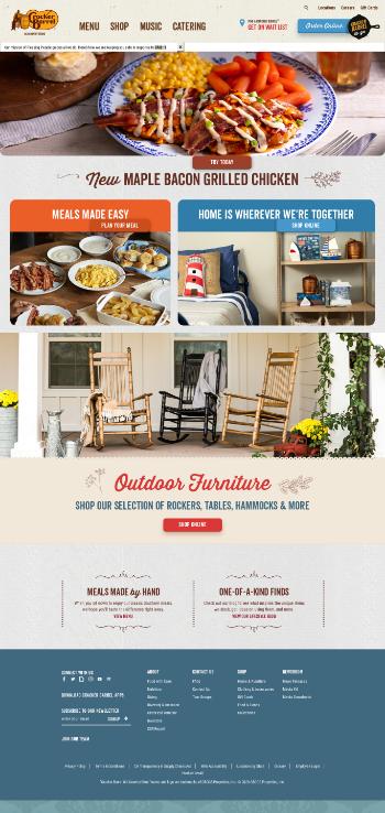 Cracker Barrel Old Country Store, Inc. Website Screenshot