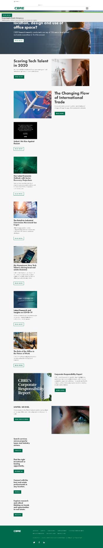 CBRE Group, Inc. Website Screenshot
