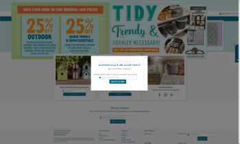 Tuesday Morning Corporation Website Screenshot
