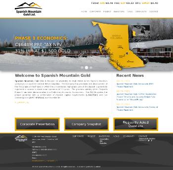 Spanish Mountain Gold Ltd. Website Screenshot