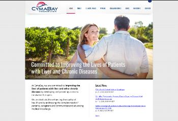 CymaBay Therapeutics, Inc. Website Screenshot