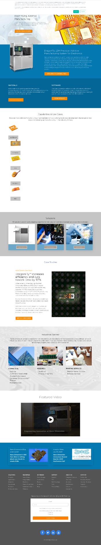 Nano Dimension Ltd. Website Screenshot