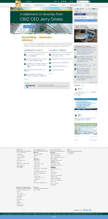 CBIZ, Inc. Website Screenshot