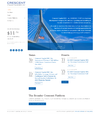 Crescent Capital BDC, Inc. Website Screenshot