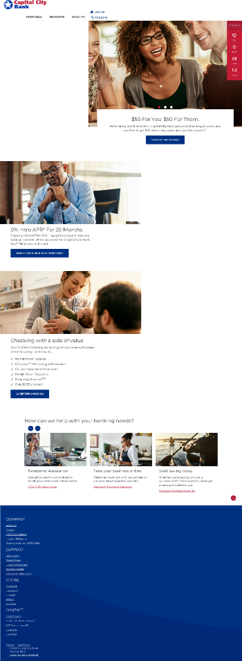 Capital City Bank Group, Inc. Website Screenshot