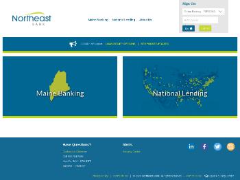 Northeast Bank Website Screenshot