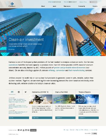 Cameco Corporation Website Screenshot