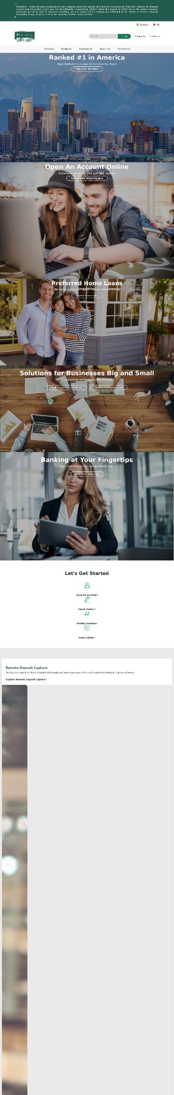 Preferred Bank Website Screenshot