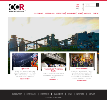 CONSOL Coal Resources LP Website Screenshot