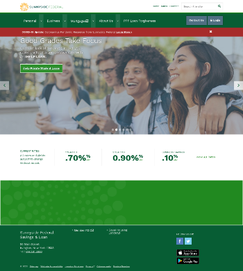 Sunnyside Bancorp, Inc. Website Screenshot