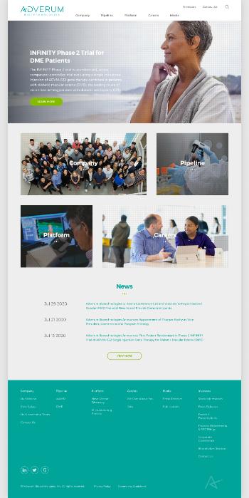 Adverum Biotechnologies, Inc. Website Screenshot