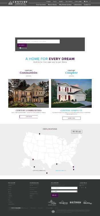 Century Communities, Inc. Website Screenshot