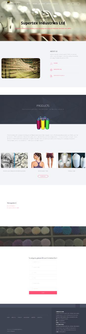 Supertex Industries Limited Website Screenshot
