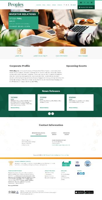 PSB Holdings, Inc. Website Screenshot