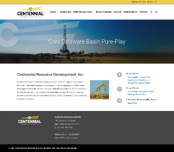 Centennial Resource Development, Inc. Website Screenshot
