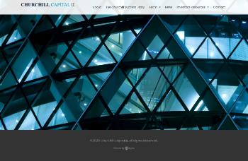 Churchill Capital Corp II Website Screenshot