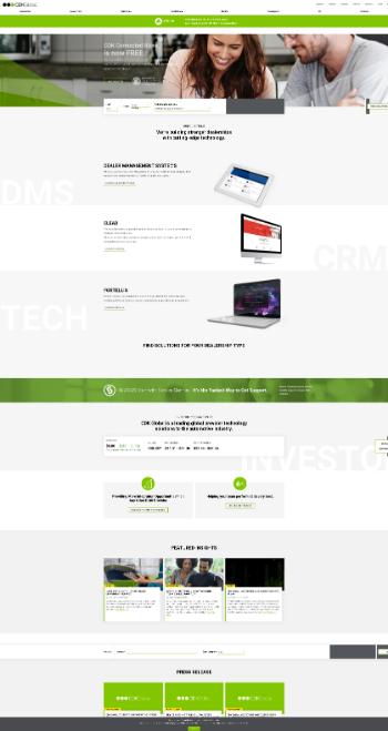 CDK Global, Inc. Website Screenshot