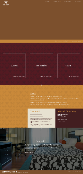 Condor Hospitality Trust, Inc. Website Screenshot