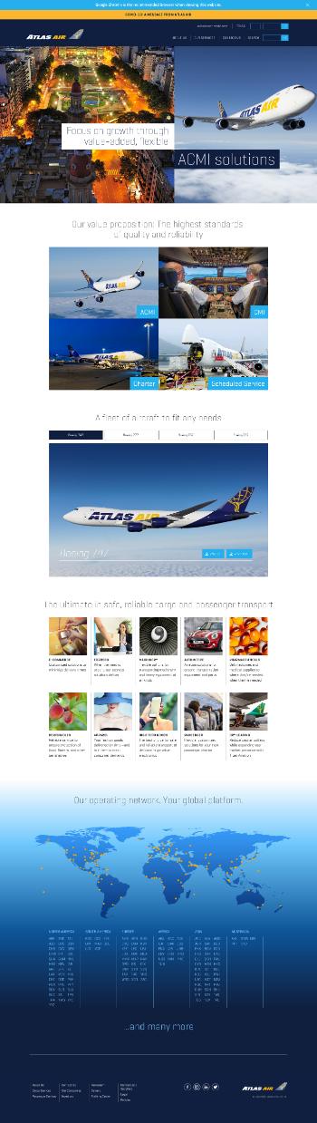 Atlas Air Worldwide Holdings, Inc. Website Screenshot