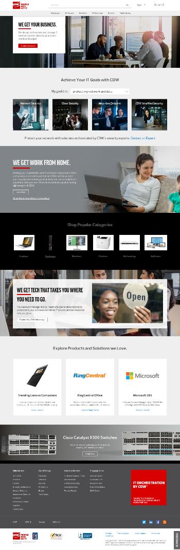 CDW Corporation Website Screenshot