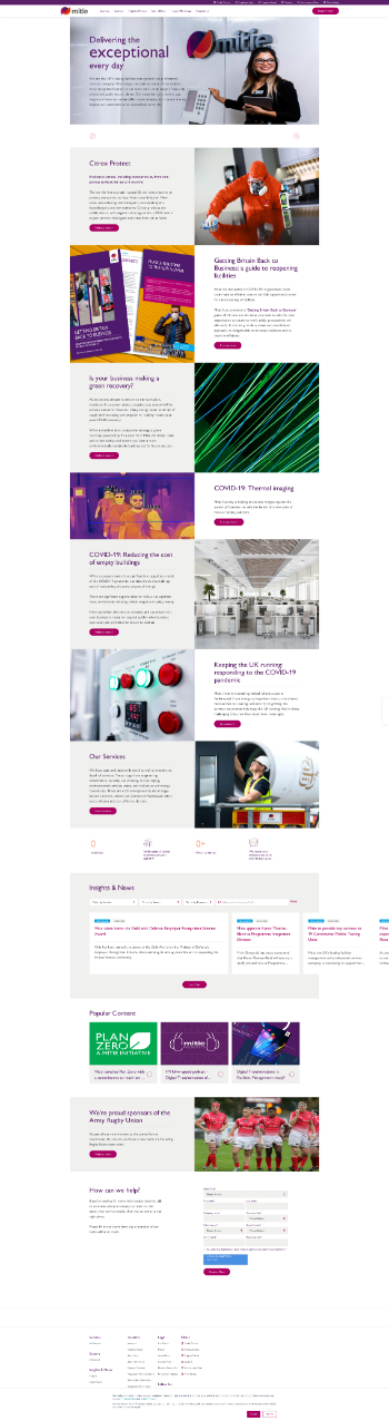 Mitie Group plc Website Screenshot