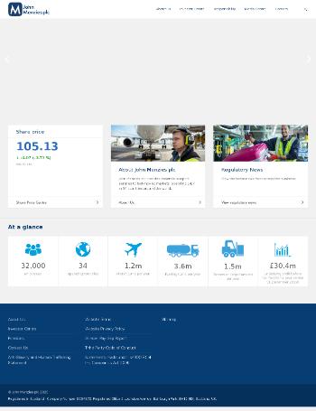 John Menzies plc Website Screenshot