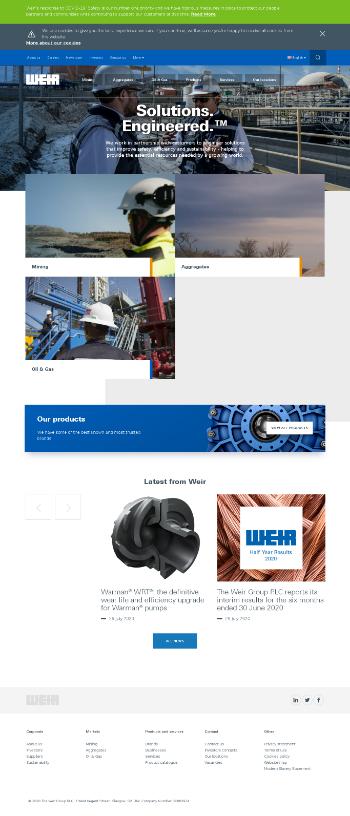 The Weir Group PLC Website Screenshot