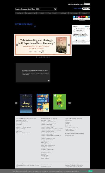 Bloomsbury Publishing plc Website Screenshot