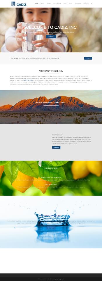 Cadiz Inc. Website Screenshot