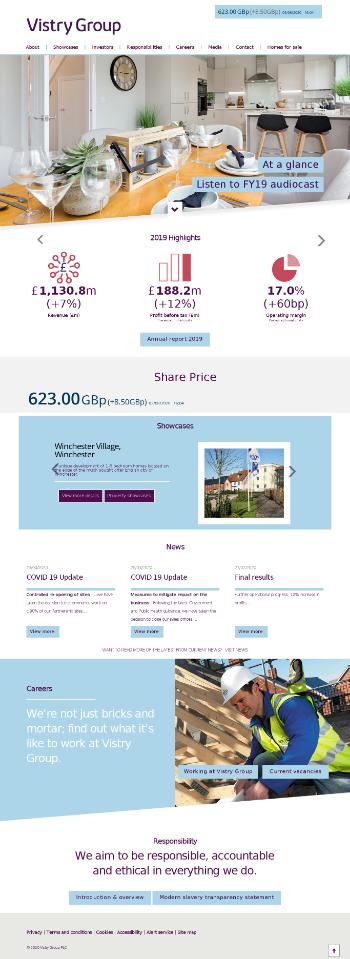 Vistry Group PLC Website Screenshot
