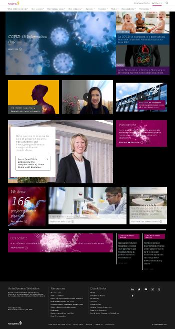AstraZeneca PLC Website Screenshot