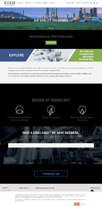 CECO Environmental Corp. Website Screenshot