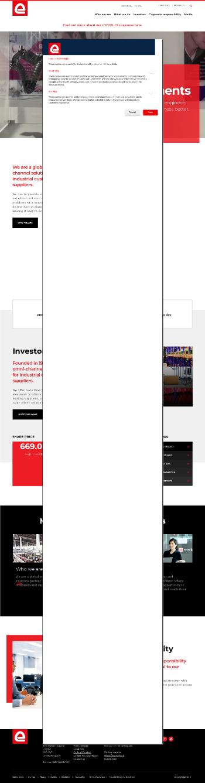 Electrocomponents plc Website Screenshot