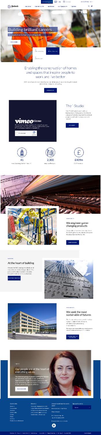 Ibstock plc Website Screenshot