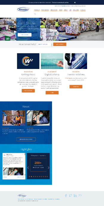 Wincanton plc Website Screenshot